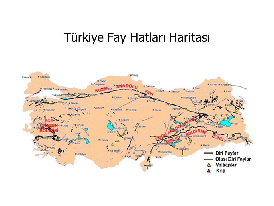 Türkiye Fay Hatları Haritası