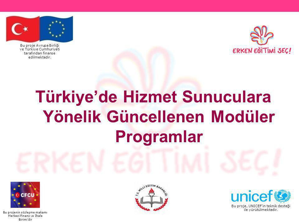Türkiye'de Hizmet Sunuculara Yönelik Güncellenen Modüler Programlar
