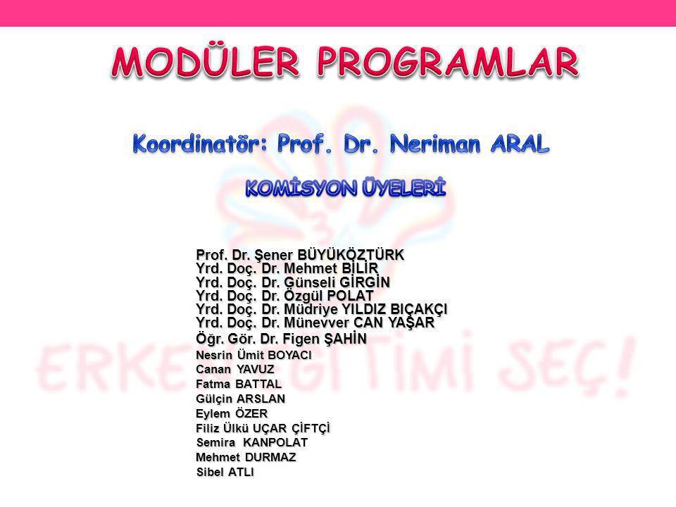 Koordinatör: Prof. Dr. Neriman ARAL