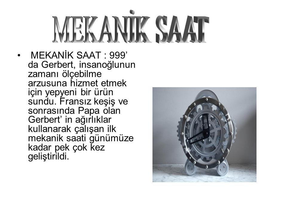 MEKANİK SAAT
