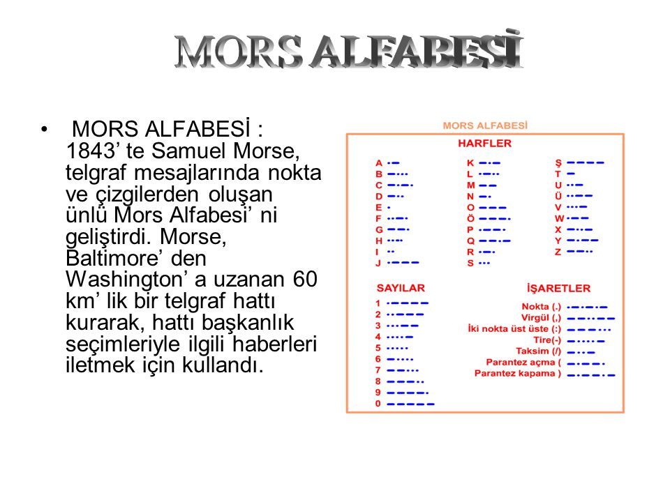 MORS ALFABESİ