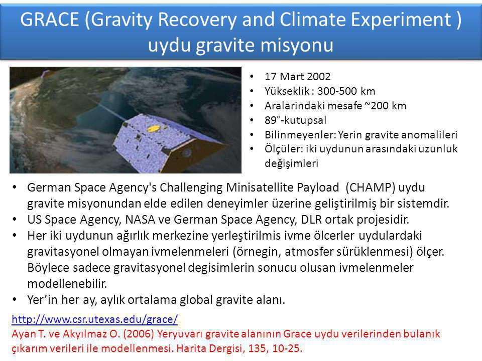 GRACE (Gravity Recovery and Climate Experiment ) uydu gravite misyonu