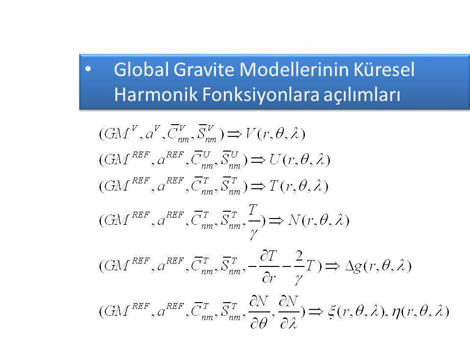 Global Gravite Modellerinin Küresel Harmonik Fonksiyonlara açılımları