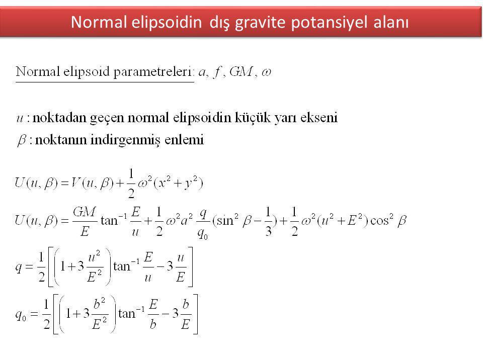 Normal elipsoidin dış gravite potansiyel alanı