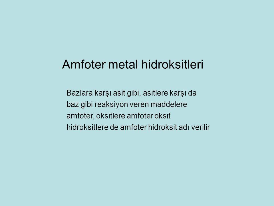 Amfoter metal hidroksitleri