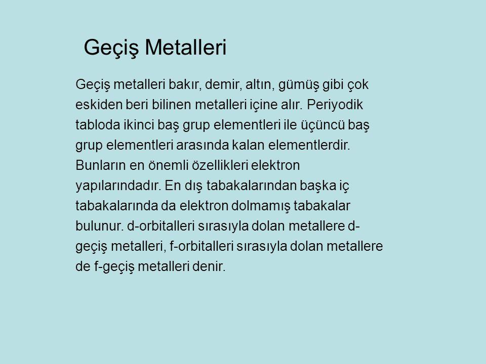 Geçiş Metalleri