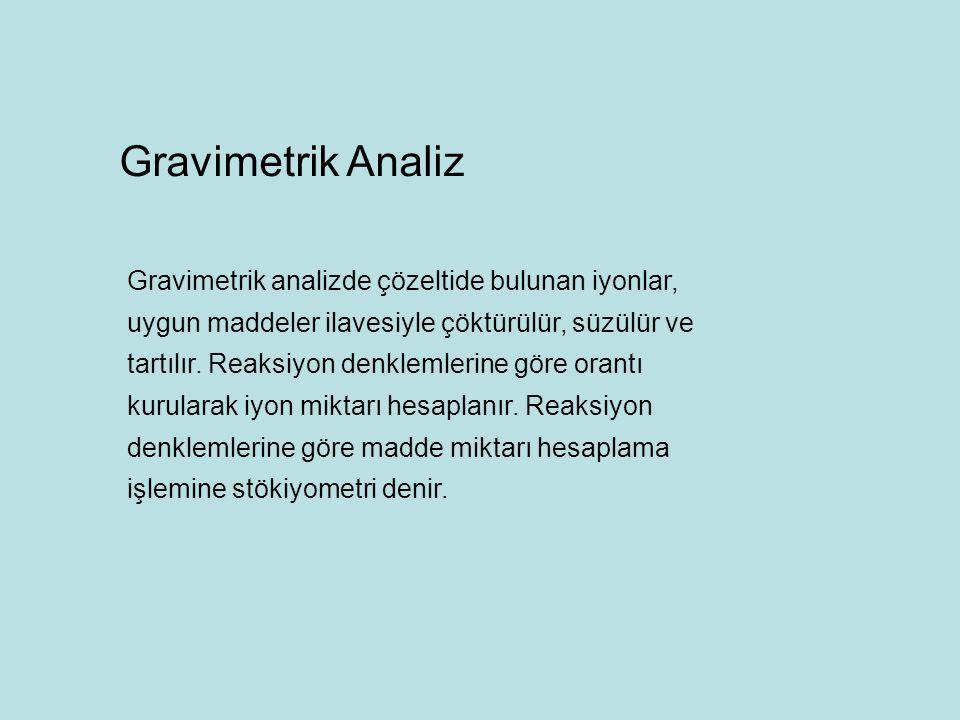 Gravimetrik Analiz