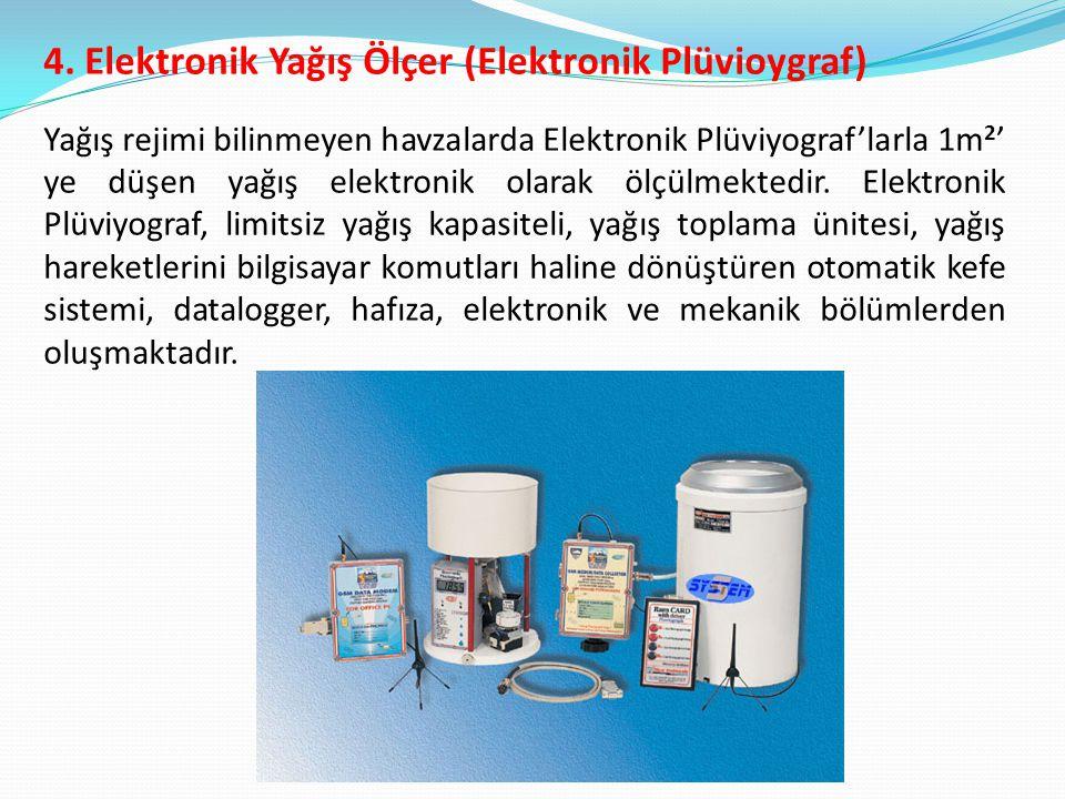 4. Elektronik Yağış Ölçer (Elektronik Plüvioygraf)