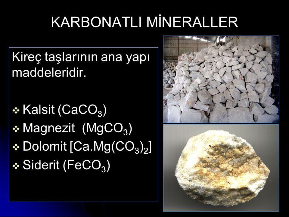 KARBONATLI MİNERALLER