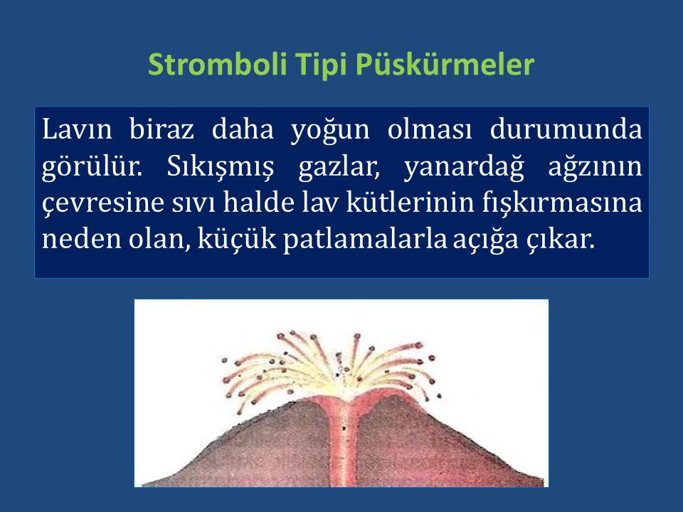 Stromboli Tipi Püskürmeler