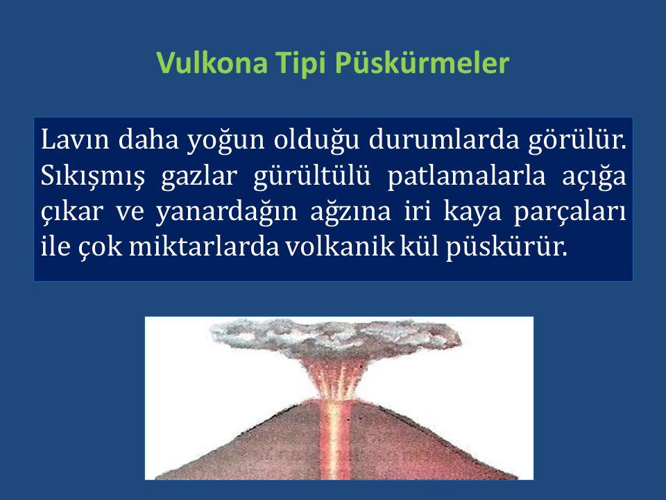 Vulkona Tipi Püskürmeler
