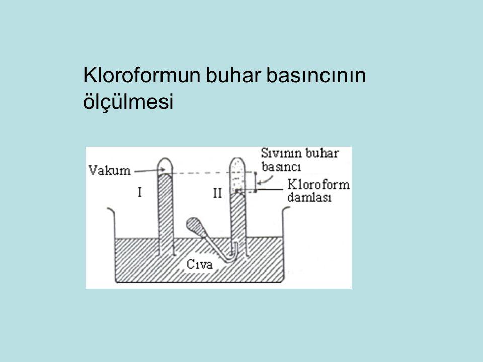 Kloroformun buhar basıncının ölçülmesi