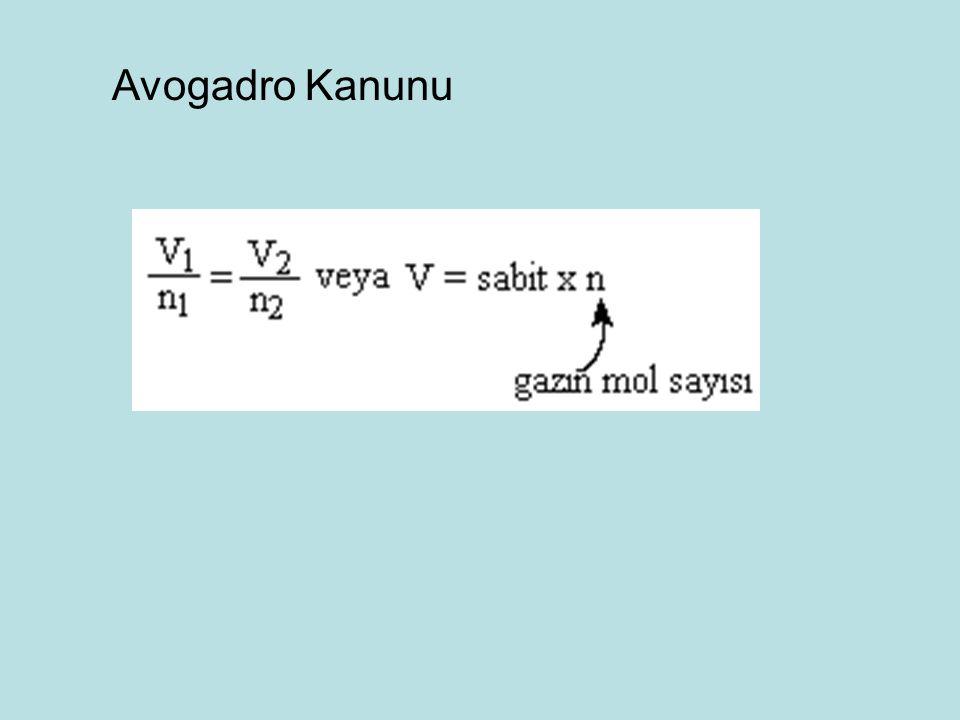 Avogadro Kanunu 133