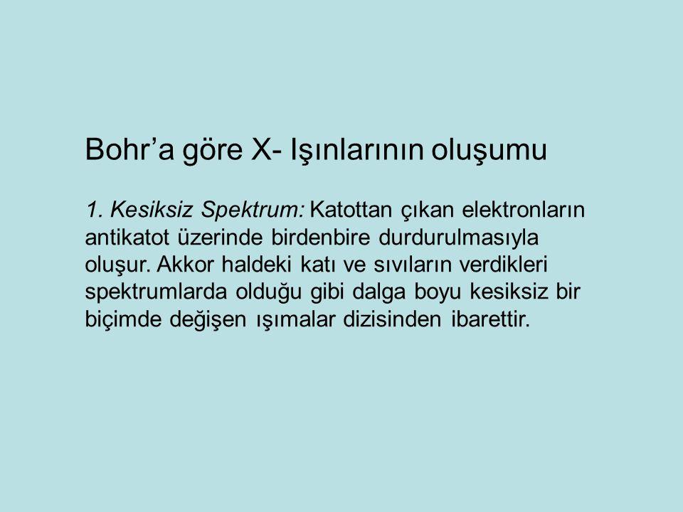 Bohr'a göre X- Işınlarının oluşumu