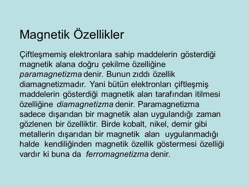 Magnetik Özellikler