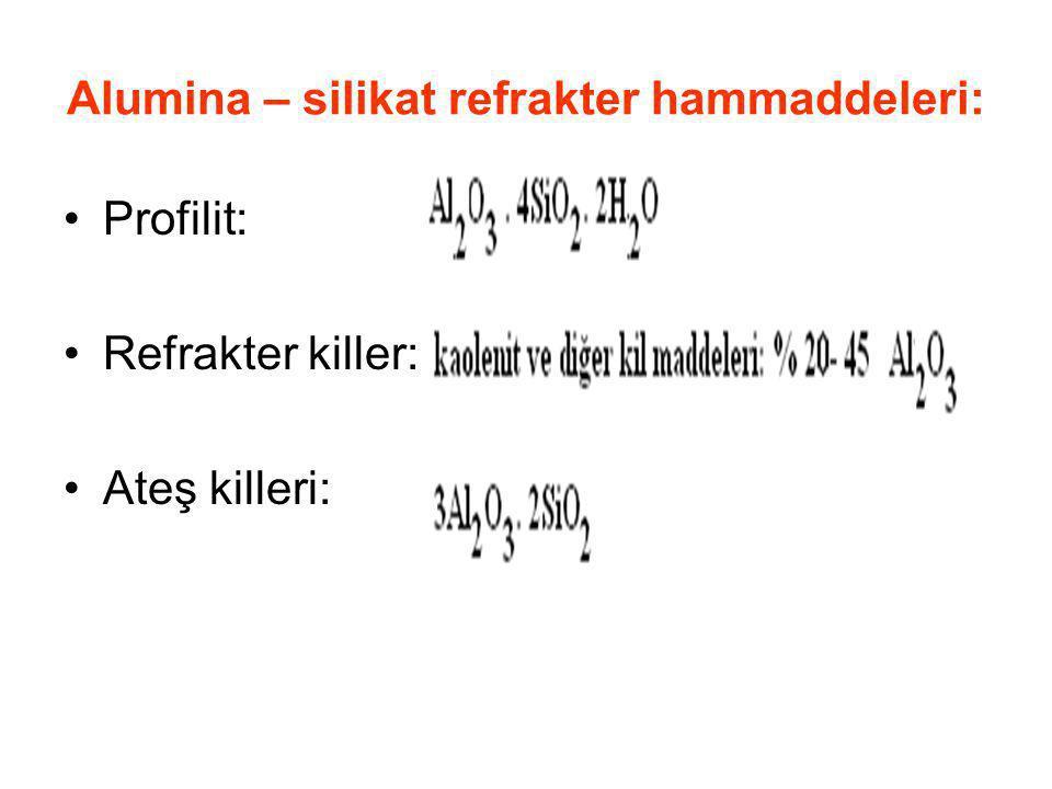 Alumina – silikat refrakter hammaddeleri: