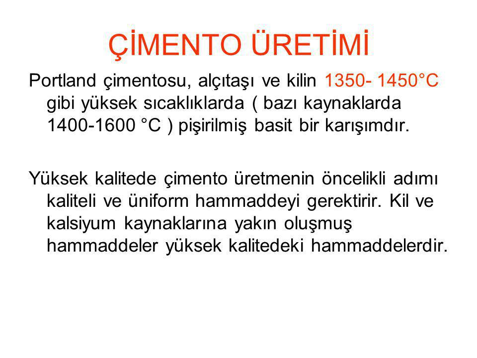 ÇİMENTO ÜRETİMİ