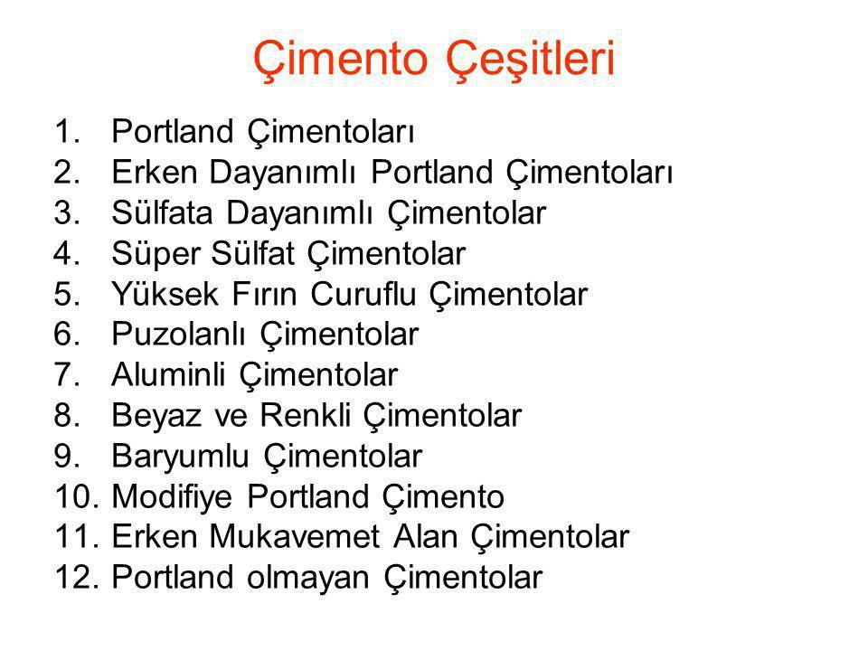 Çimento Çeşitleri Portland Çimentoları