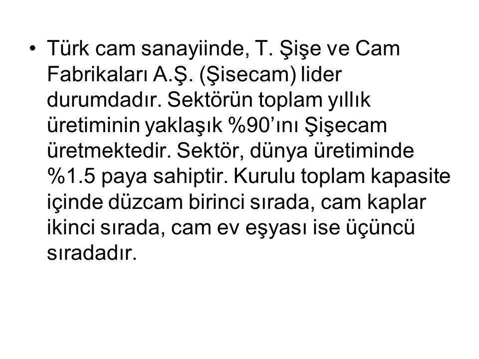 Türk cam sanayiinde, T. Şişe ve Cam Fabrikaları A. Ş