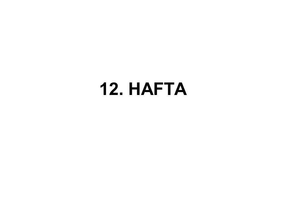 12. HAFTA