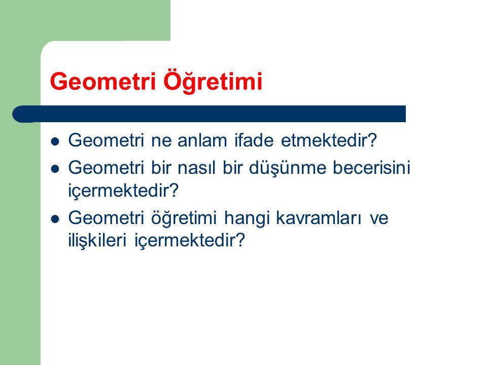 Geometri Öğretimi Geometri ne anlam ifade etmektedir