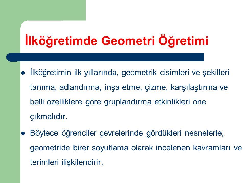 İlköğretimde Geometri Öğretimi