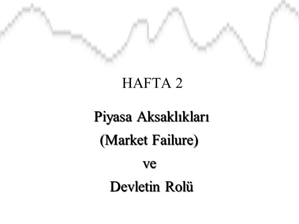 Piyasa Aksaklıkları (Market Failure) ve Devletin Rolü