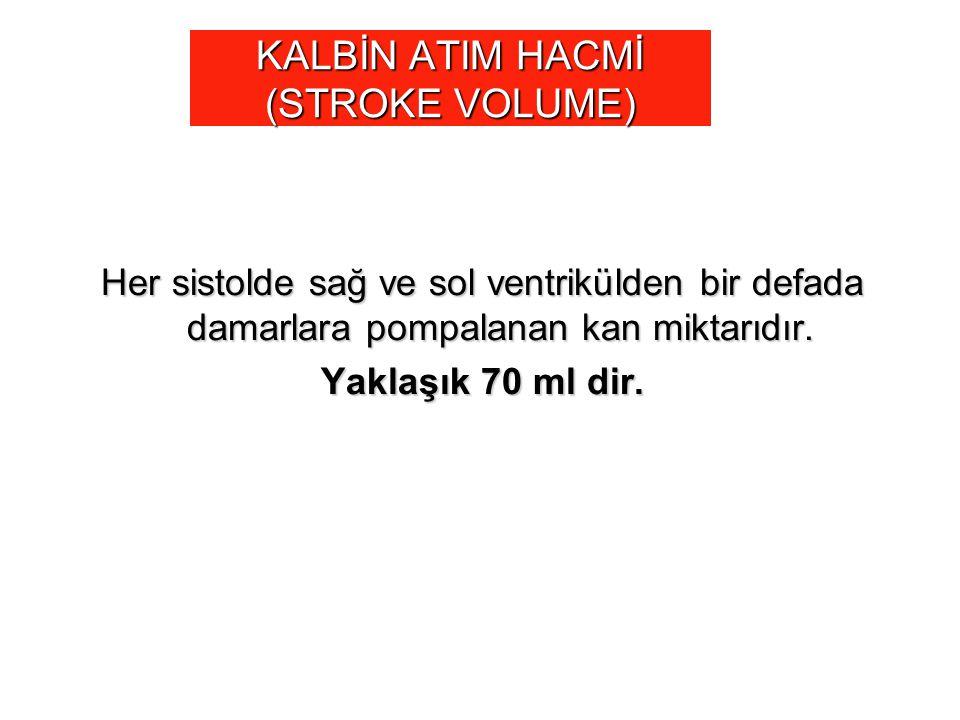 KALBİN ATIM HACMİ (STROKE VOLUME)