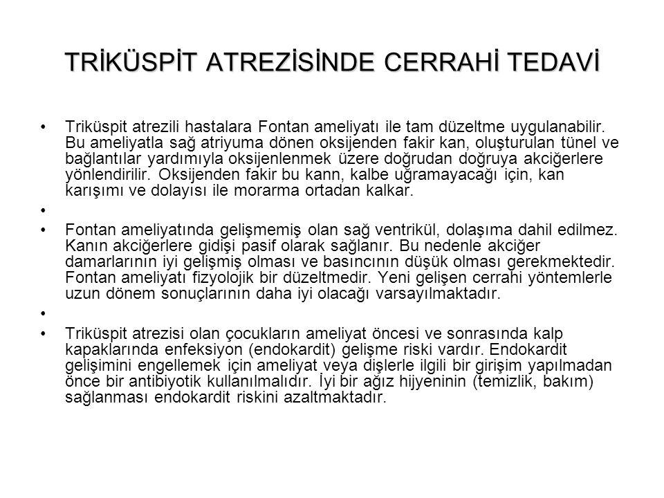 TRİKÜSPİT ATREZİSİNDE CERRAHİ TEDAVİ