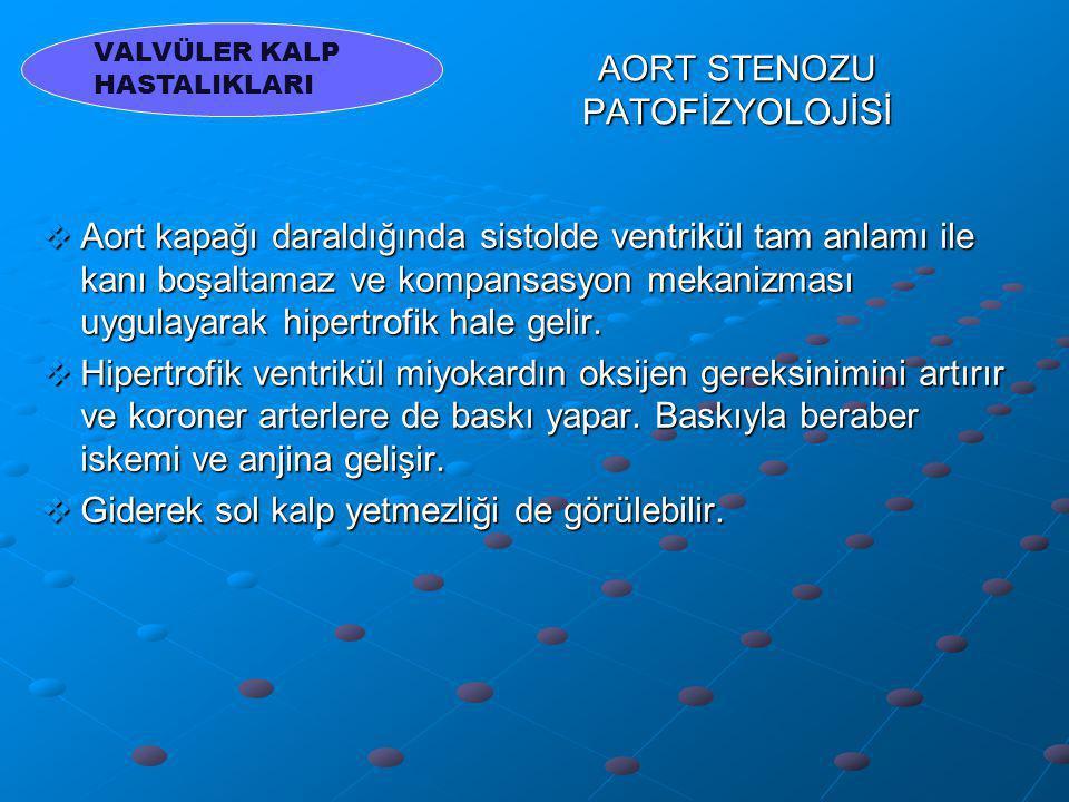 AORT STENOZU PATOFİZYOLOJİSİ