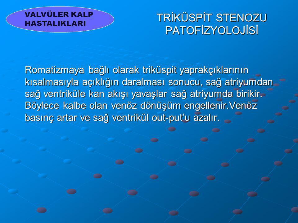 TRİKÜSPİT STENOZU PATOFİZYOLOJİSİ