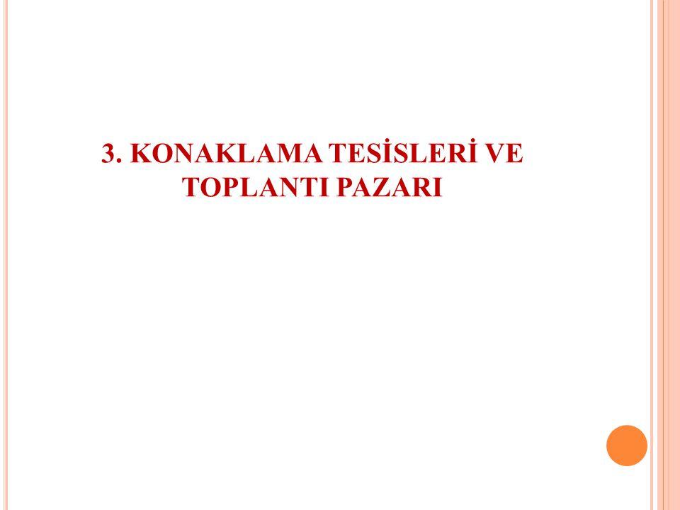 3. KONAKLAMA TESİSLERİ VE TOPLANTI PAZARI