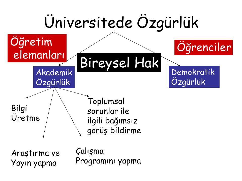 Üniversitede Özgürlük