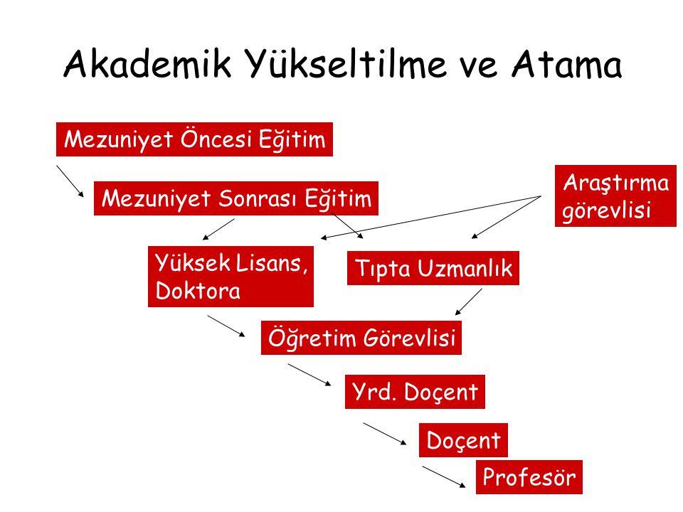 Akademik Yükseltilme ve Atama