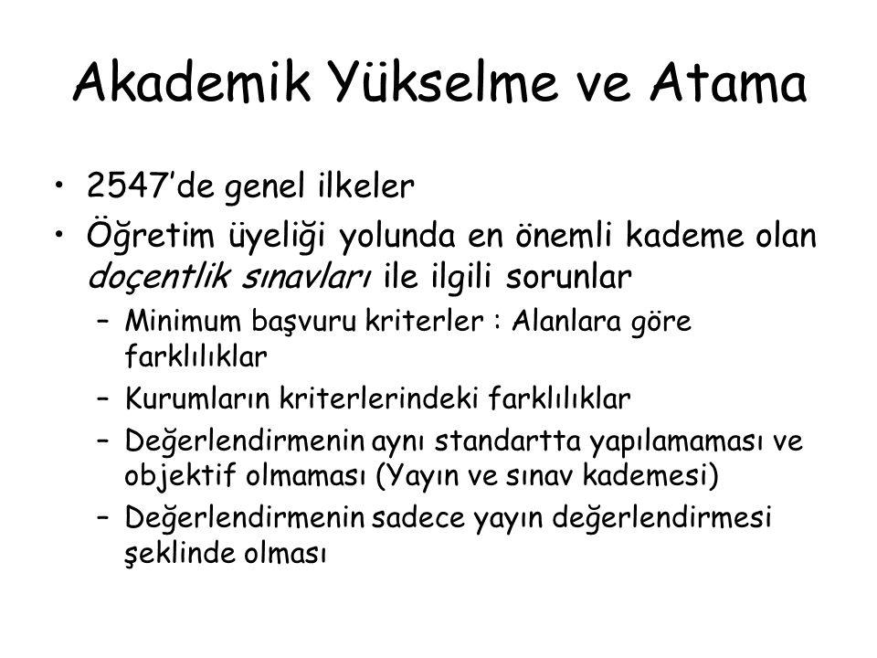 Akademik Yükselme ve Atama