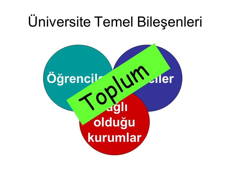 Üniversite Temel Bileşenleri