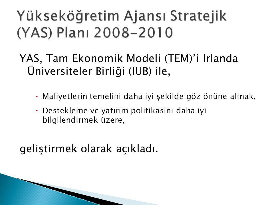 Yükseköğretim Ajansı Stratejik (YAS) Planı 2008-2010