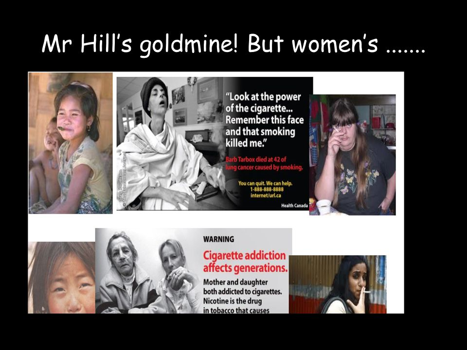 Mr Hill's goldmine! But women's .......