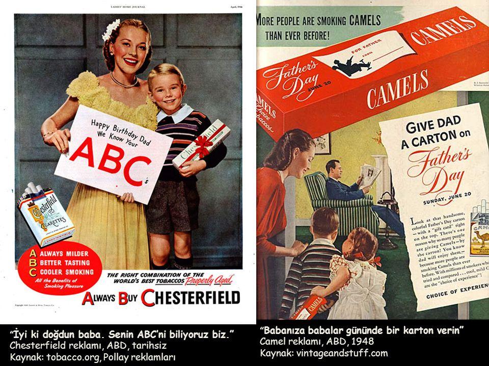 Babanıza babalar gününde bir karton verin Camel reklamı, ABD, 1948 Kaynak: vintageandstuff.com