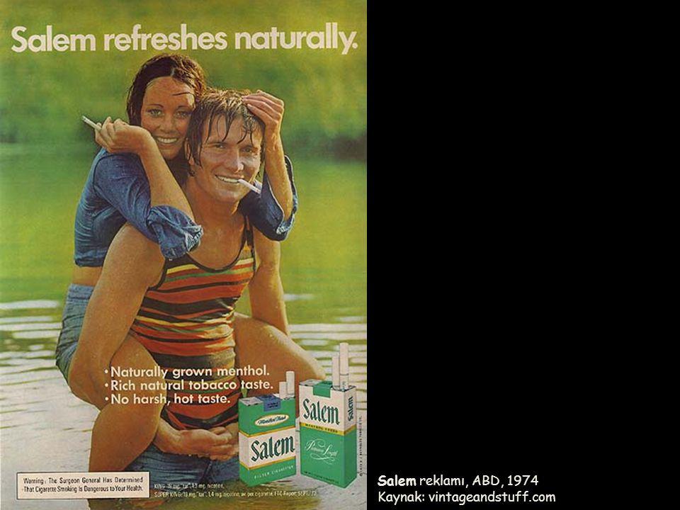 Salem reklamı, ABD, 1974 Kaynak: vintageandstuff.com