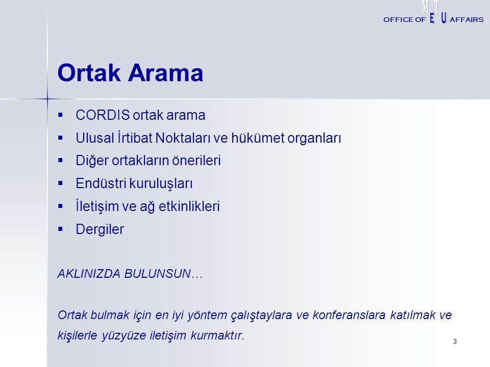 Ortak Arama CORDIS ortak arama
