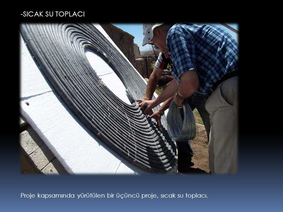 -SICAK SU TOPLACI Proje kapsamında yürütülen bir üçüncü proje, sıcak su toplacı.