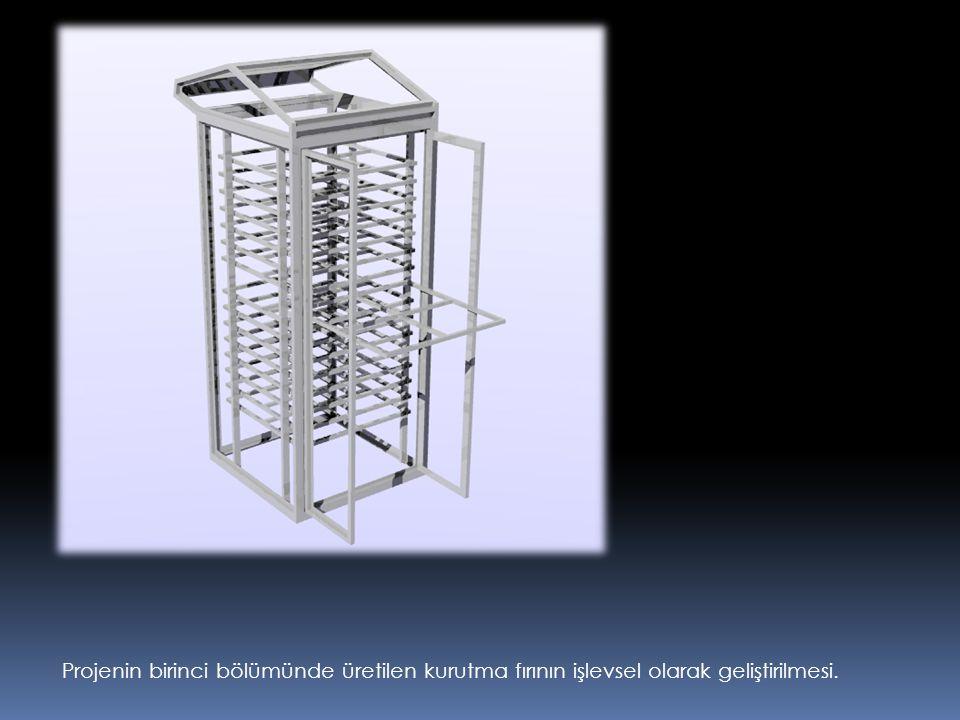 Projenin birinci bölümünde üretilen kurutma fırının işlevsel olarak geliştirilmesi.