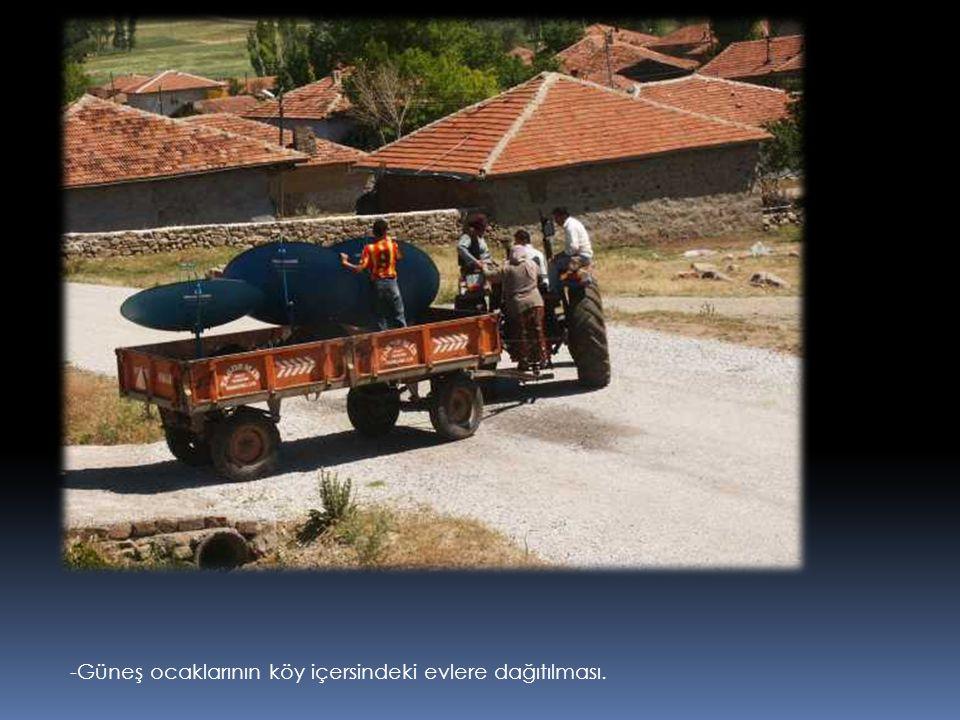 -Güneş ocaklarının köy içersindeki evlere dağıtılması.