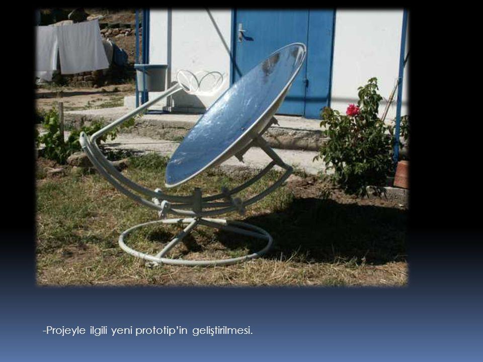 -Projeyle ilgili yeni prototip'in geliştirilmesi.