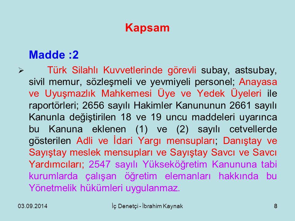 İç Denetçi - İbrahim Kaynak