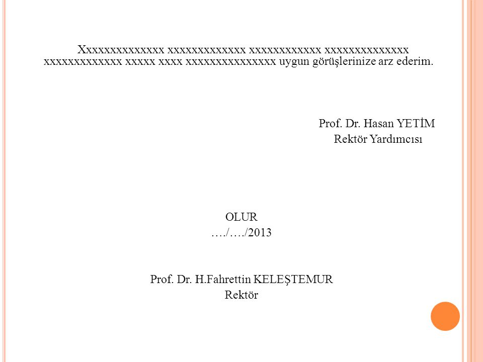 Prof. Dr. H.Fahrettin KELEŞTEMUR