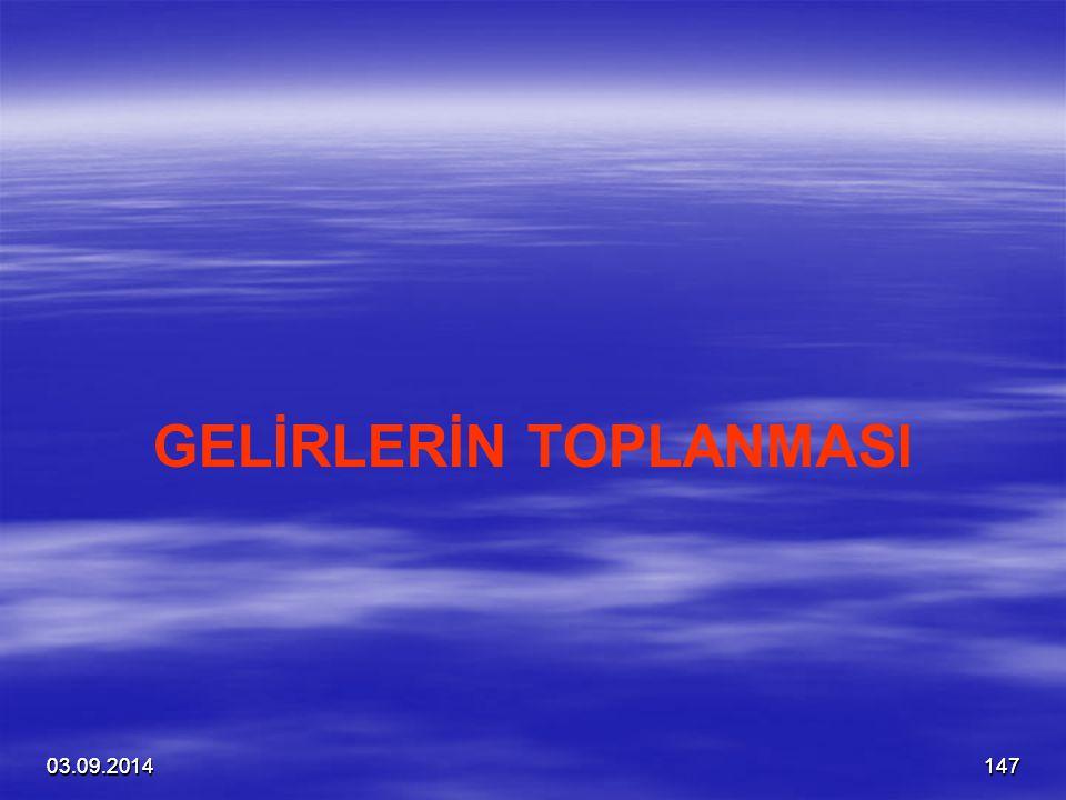 GELİRLERİN TOPLANMASI
