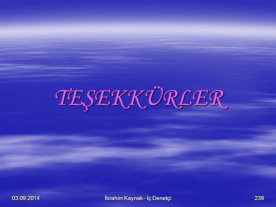 TEŞEKKÜRLER 06.04.2017. 06.04.2017. 06.04.2017. 06.04.2017. İbrahim Kaynak - İç Denetçi. İbrahim Kaynak - İç Denetçi.
