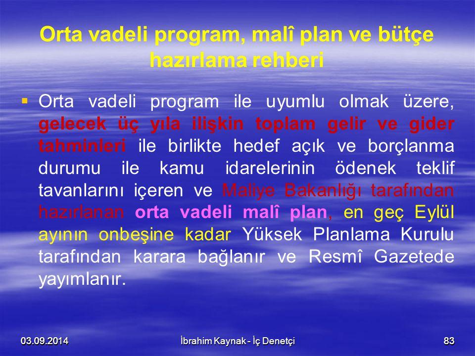 Orta vadeli program, malî plan ve bütçe hazırlama rehberi